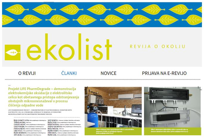 Predstavitev projekta v 13. številki revije Ekolist