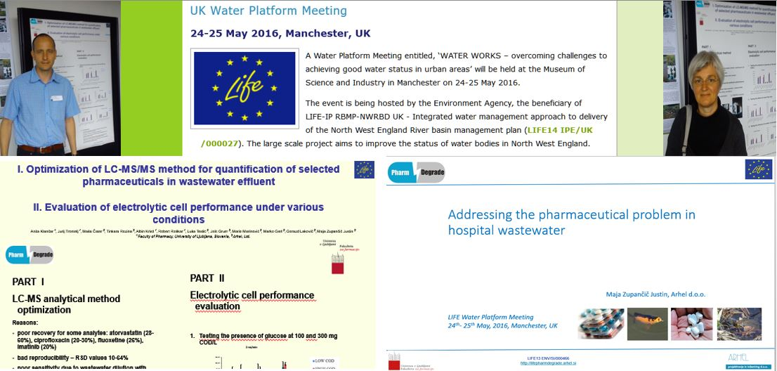 Our presentations on LIFE Water Platform Meeting, 24 – 25 May 2016, Manchester, UK