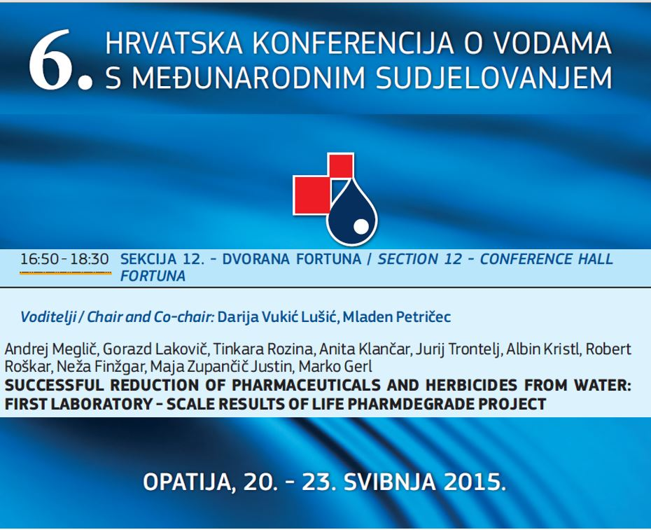 Presentation with the lecture on the 6th Croatian Water Conference, 22. May, 2015 Opatija